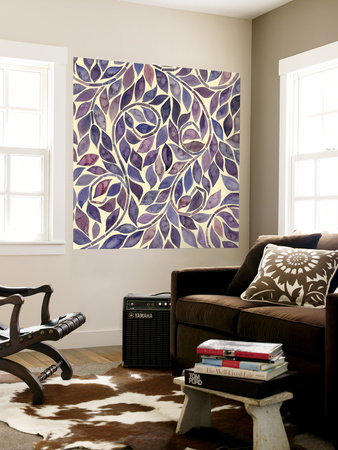 Amethyst Swirls IV Wall Mural by Grace Popp