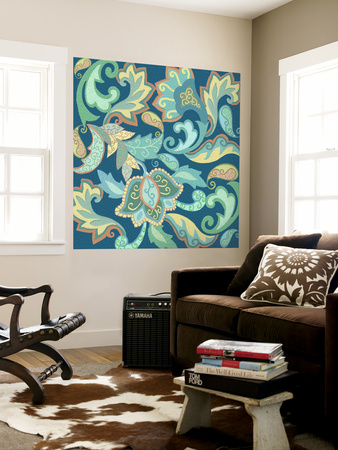 Paisley Painting I Wall Mural by Sue Ditzian