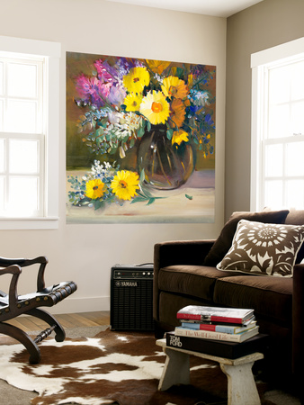 Floral Still Life II Wall Mural by Tim O'toole