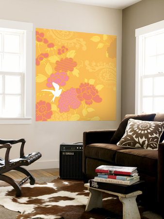May's Roses II Wall Mural by Evelia Designs
