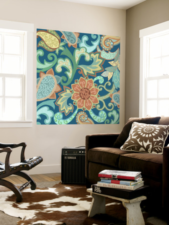 Paisley Painting II Wall Mural by Sue Ditzian