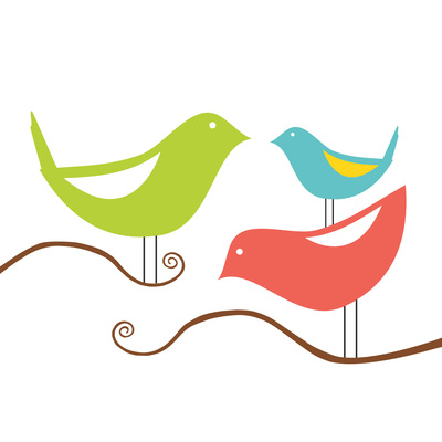 Songbirds I Poster by Sabine Berg