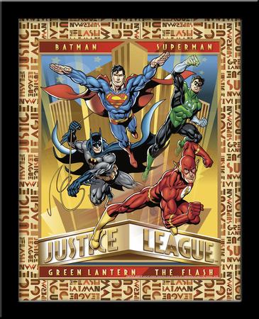 Justice League 3D Framed Art Print