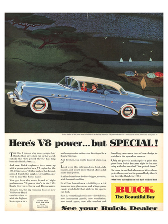 GM Buick V8 Power -But Special Prints