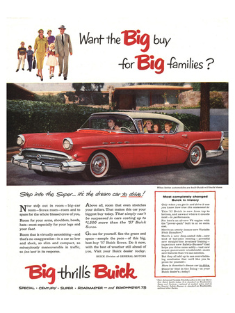 GM Buick-Buy for Big Families Posters