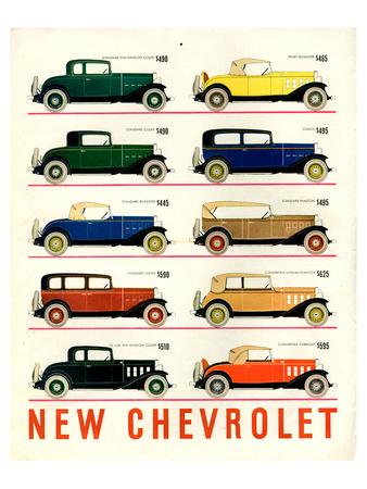 GM 10 New Chevrolet Print