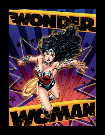 Wonder Woman 3D Framed Art Posters