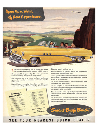 GM Buick - New Experience Posters