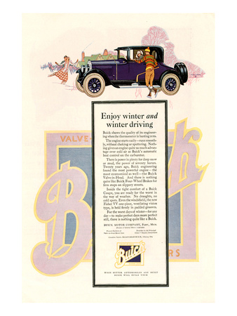 GM Buick-Enjoy Winter Driving Posters
