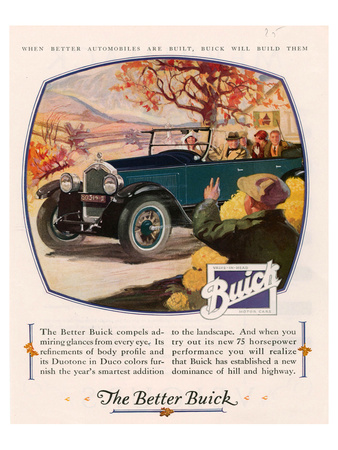 GM Buick - Admiring Glances Poster