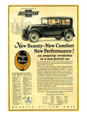 GM Chevrolet-New Beauty Comfort Print