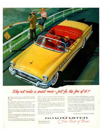 GM Buick Roadmaster Smart Move Posters