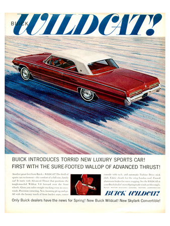 GM Buick Wildcat Sports Car Poster