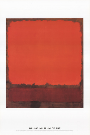 Orange, Red, and Red Posters van Mark Rothko