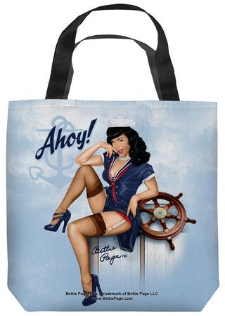 Bettie Page - Ahoy Tote Bag Tote Bag
