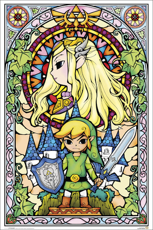 The Legend of Zelda- Stained Glass Posters