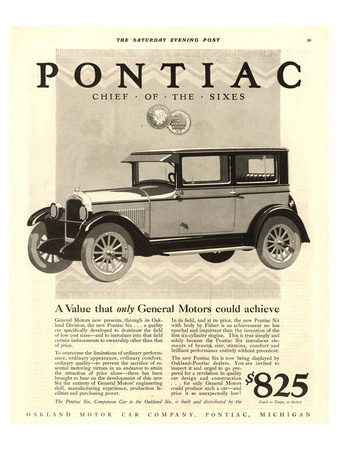 GM Pontiac Chief of the Sixes Posters