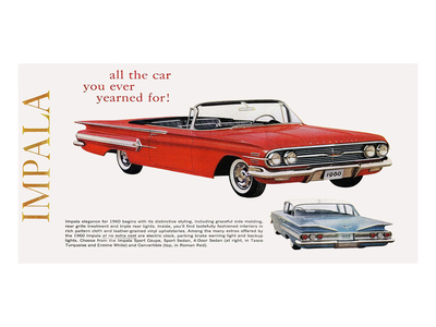 GM Chevy Impala - Yearned For Posters