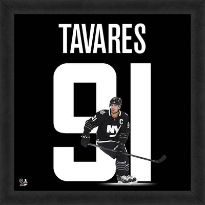John Tavares, Islanders Framed photographic representation of the player's jersey Framed Memorabilia