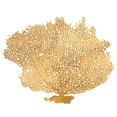 Golden Sea Fan I (gold foil) 高品質プリント : ハイロ・ロドリゲス