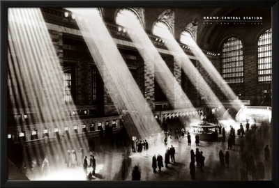New York, New York - Grand Central Station Print by Hal Morey