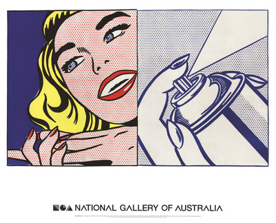 Girl and Spray Can Prints by Roy Lichtenstein