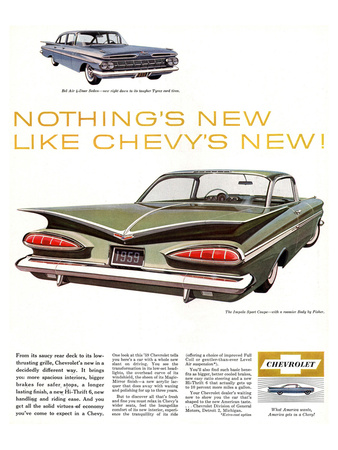 GM Chevy Bel Air 4-Door Sedan Poster