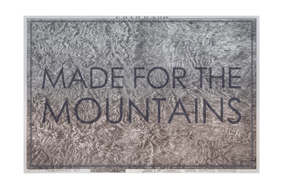 Made for the Mountains - 1894, Colorado State Map in Relief, Colorado, United States Map Giclee Print