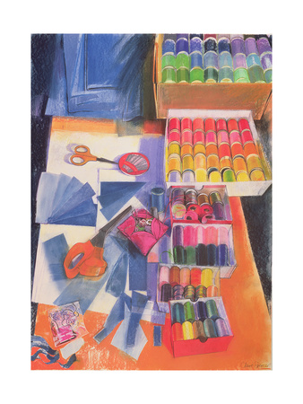 Workbench Giclee Print by Claire Spencer