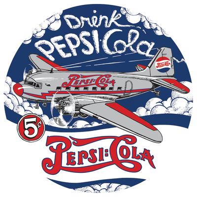 Pepsi Die-Cut Tin Sign