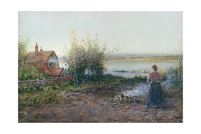 Bawdsey Ferry, Near Felixstowe Giclee Print by George Henry Boughton