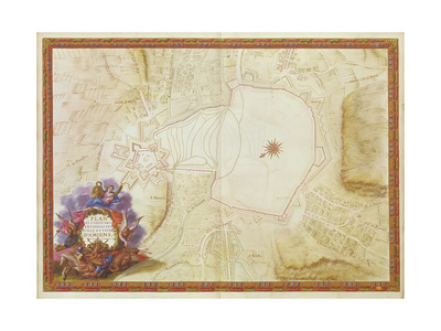 Plan and Map of the Town, Citadel and Surroundings of Amiens, from the 'Atlas Louis XIV', 1683-88 Giclee Print by Sebastien Le Prestre de Vauban