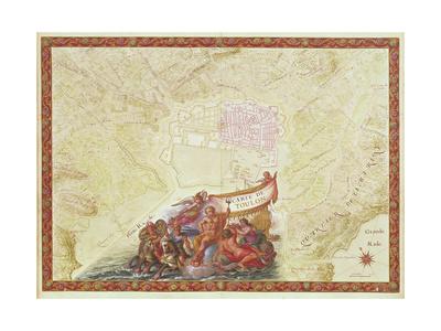 Plan and Map of Toulon, from the 'Atlas Louis XIV', 1683-88 Giclee Print by Sebastien Le Prestre de Vauban