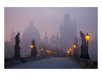 Prague Charles Bridge At Dawn Art