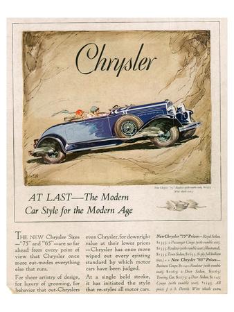 New Chrysler 75-The Modern Car Prints