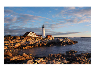 Portland Maine Head Light Dawn Posters