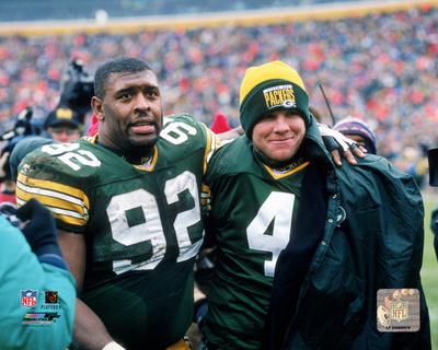 Reggie White & Brett Favre 1995 Photo