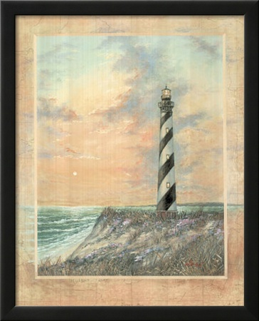Standing Tall (Striped Lighthouse) Art Print Poster Posters