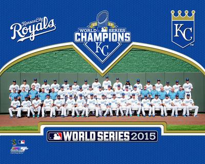 Kansas City Royals 2015 World Series Champions Team Sit Down Photo