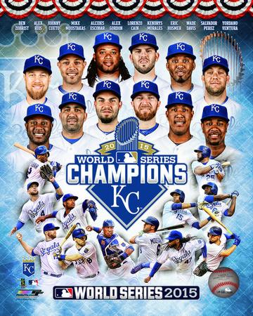 Kansas City Royals 2015 World Series Champions Composite Photo
