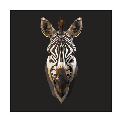 Zebra Posters by Lora Kroll