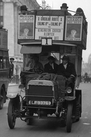 Commuters During Strike Action 1926 Photographic Print by  Staff