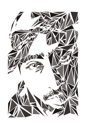 2 Pac Art by Cristian Mielu
