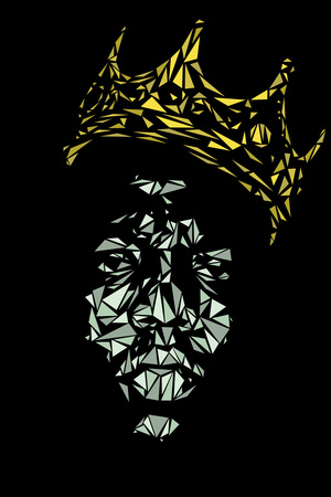 Biggie Smalls Crown Poster Art