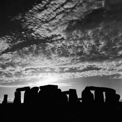 Sunset over Stonehenge Photographic Print by  Staff