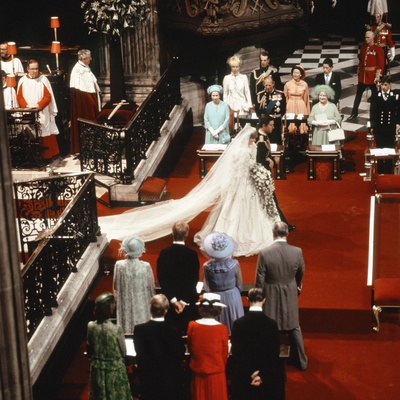 Wedding of Charles, Prince of Wales, and Lady Diana Spencer Fotografisk tryk af  Staff