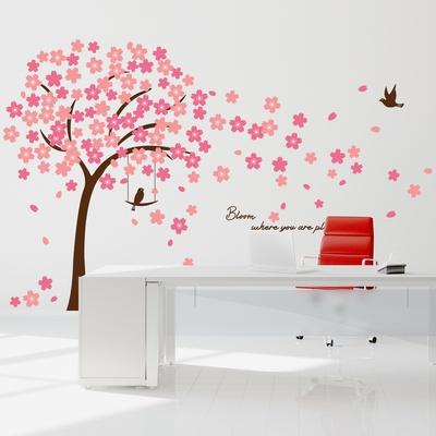 Cherry Blossom Quote Kalkomania ścienna
