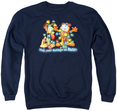 Crewneck Sweatshirt: Garfield- Bright Holidays Shirts