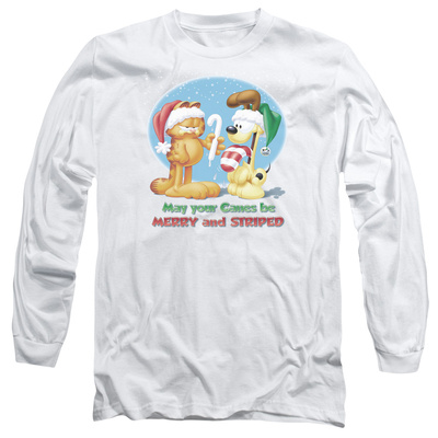 Long Sleeve: Garfield- Merry And Striped Long Sleeves