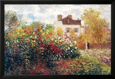 Claude Monet: der Garten des Künstlers, Kunstdruckposter Poster von Claude Monet